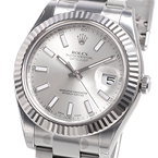 Replica Datejust II Silver bar Dial Watch 116334SBO