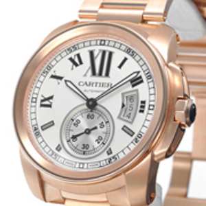 Replica Calibre de Cartier Rose Gold Automatic Watch W7100018