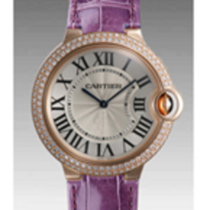 Replica Cartier Ballon Bleu Diamonds medium Watch WE900252