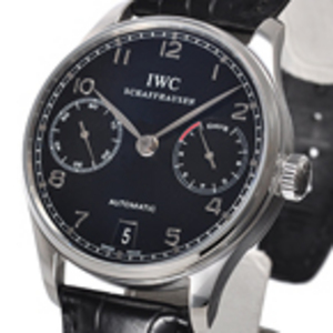 Replica IWC Portuguese 7 Day Power Reserve Black Watch IW500109