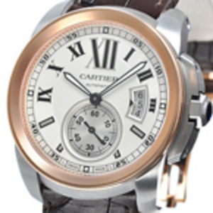 Replica Calibre de Cartier Rose Gold Automatic Watch W7100039