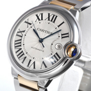 Replica Cartier Ballon Bleu Automatic Steel / Gold Watch W69009Z