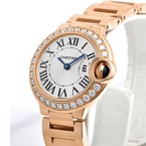 Macasamhail Cartier Balana Bleu Diamonds Óir na mBan Watch WE900