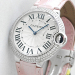 Replica Cartier Ballon Bleu Diamonds Pink Nahka Keskikokoinen WE