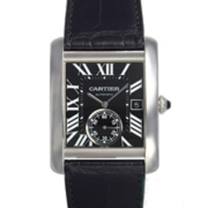 Replica Cartier Tank MC Automatic Black Dial Watch W5330004