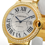 Replica Cartier Ballon Bleu Diamonds Gold Automatic Watch WE9007Z3