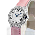 Replica Cartier Ballon Bleu Diamanten Damenuhr WE900351