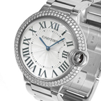 Replica Cartier Ballon Bleu Diamonds Midsize Watch WE9006Z3
