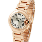 Replica Cartier Ballon Bleu Rose Gold Ladies Watch W69002Z2