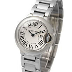 Replica Cartier Ballon Bleu staal Ladies Watch W69010Z4