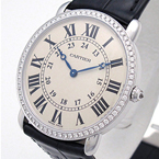 Replica Cartier Ronde Louis Diamonds Unisex Watch WR000551