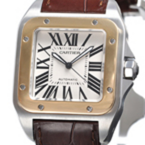 Replica Cartier Santos 100 Gold / Steel Automatic Watch W20072X7
