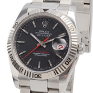Replica Just Turn- O -Graph Black Dial Watch 116264BKSO