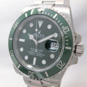 Replica Submariner Oyster Perpetual Date Grønn Watch 116610LV