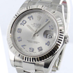 Replica Datejust II Silver arabiska Dial Watch 116334SAO
